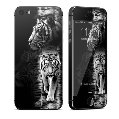 Apple iPhone 5S Skin - White Tiger