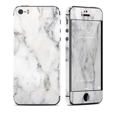 Apple iPhone 5S Skin - White Marble