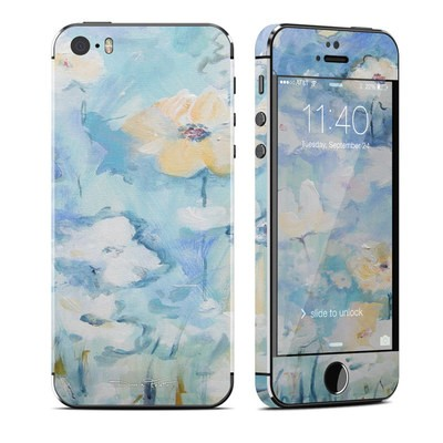Apple iPhone 5S Skin - White & Blue