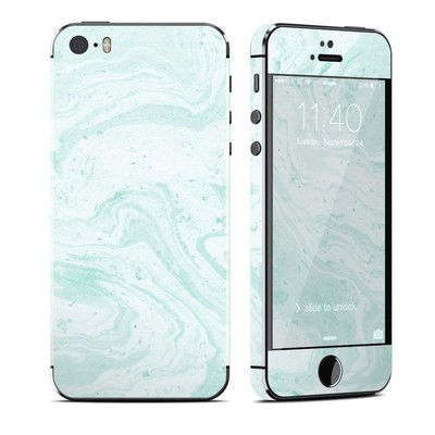Apple iPhone 5S Skin - Winter Green Marble