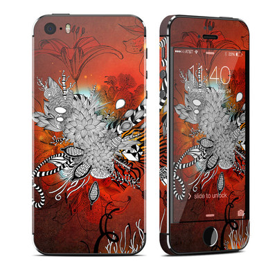 Apple iPhone 5S Skin - Wild Lilly