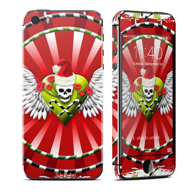 Apple iPhone 5S Skin - Xmas Skull