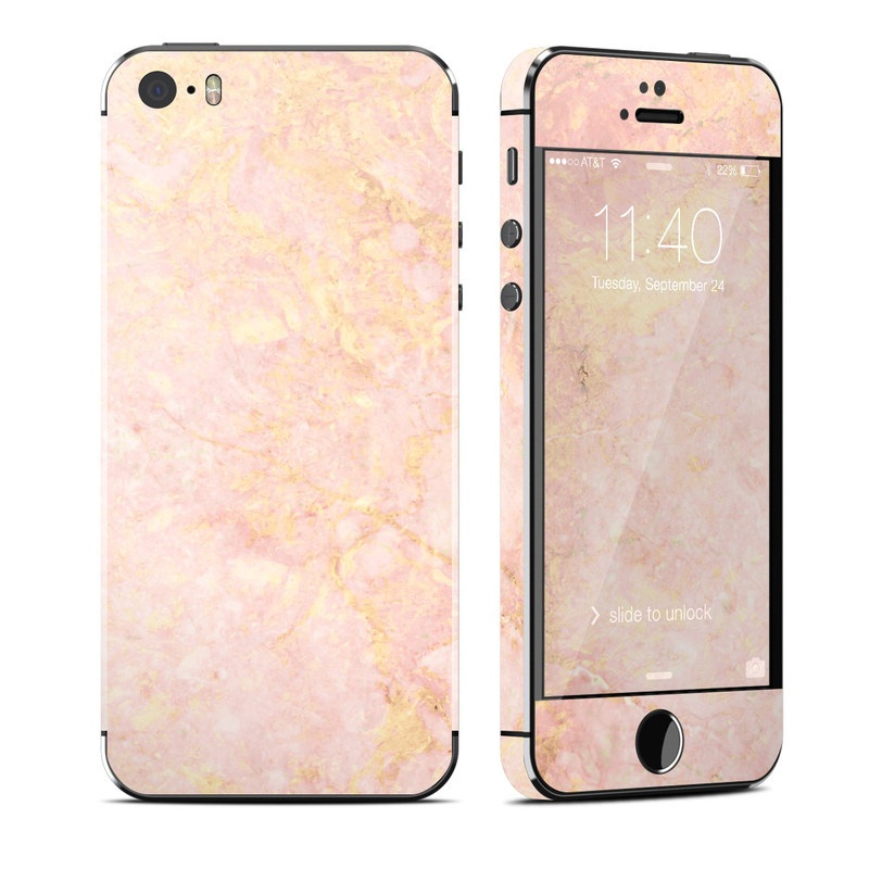 apple iphone 5s skin rose gold marble by marble. Black Bedroom Furniture Sets. Home Design Ideas