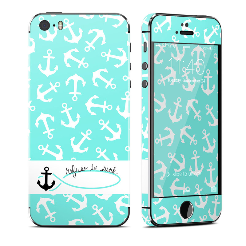 apple iphone 5s skin refuse to sink by brooke boothe decalgirl. Black Bedroom Furniture Sets. Home Design Ideas