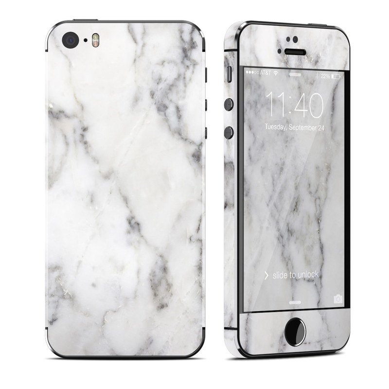 the latest 2570c 712b5 Apple iPhone 5S Skin - White Marble