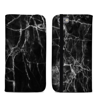 Apple iPhone 6 Folio Case - Black Marble
