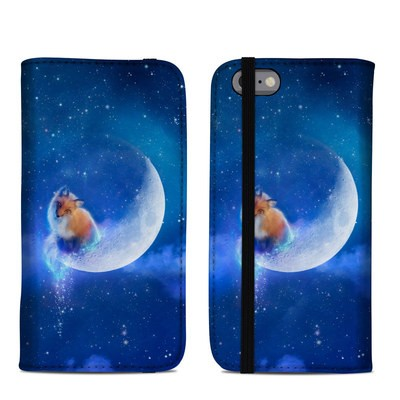 Apple iPhone 6 Folio Case - Moon Fox