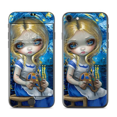 Apple iPhone 7 Skin - Alice in a Van Gogh