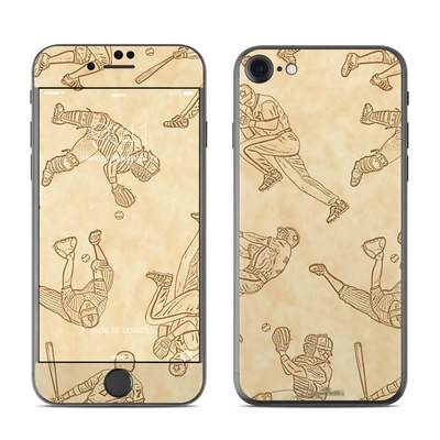 Apple iPhone 7 Skin - Baseball Sketches