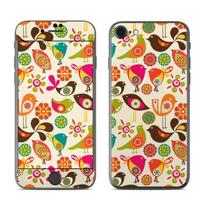 Apple iPhone 7 Skin - Bird Flowers