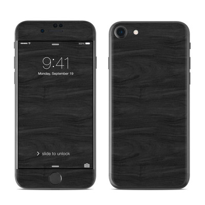 Apple iPhone 7 Skin - Black Woodgrain