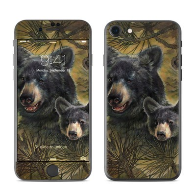 Apple iPhone 7 Skin - Black Bears