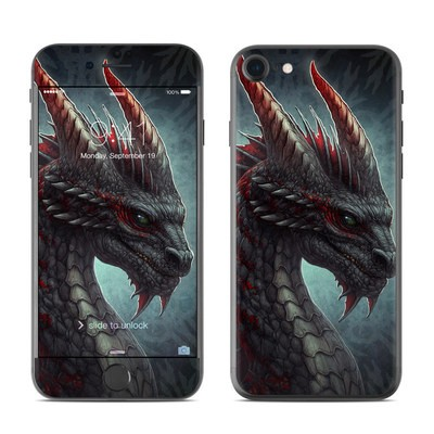 Apple iPhone 7 Skin - Black Dragon