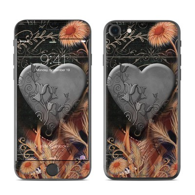 Apple iPhone 7 Skin - Black Lace Flower