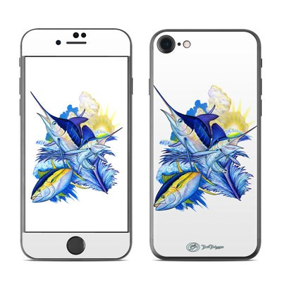 Apple iPhone 7 Skin - Blue White and Yellow