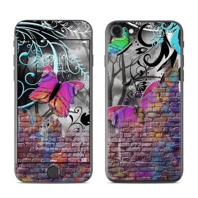 Apple iPhone 7 Skin - Butterfly Wall