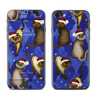 Apple iPhone 7 Skin - Christmas Cats