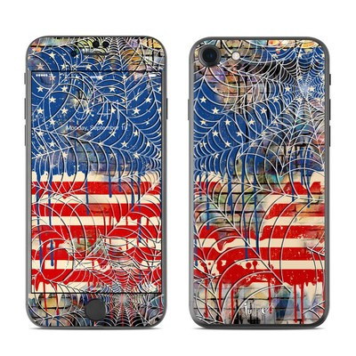 Apple iPhone 7 Skin - Cobweb Flag