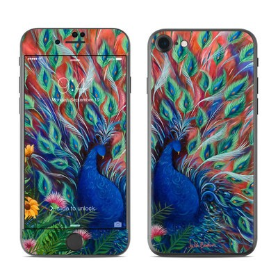 Apple iPhone 7 Skin - Coral Peacock