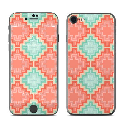 Apple iPhone 7 Skin - Coral Diamond