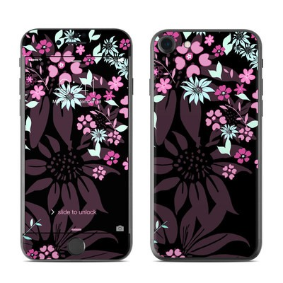 Apple iPhone 7 Skin - Dark Flowers