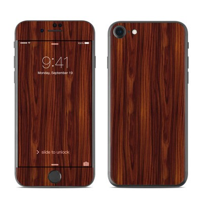 Apple iPhone 7 Skin - Dark Rosewood