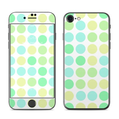 Apple iPhone 7 Skin - Big Dots Mint