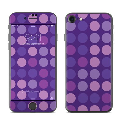 Apple iPhone 7 Skin - Big Dots Purple