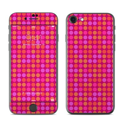 Apple iPhone 7 Skin - Dots Pink