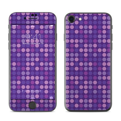 Apple iPhone 7 Skin - Dots Purple