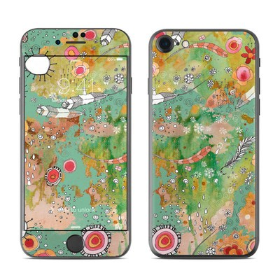 Apple iPhone 7 Skin - Feathers Flowers Showers