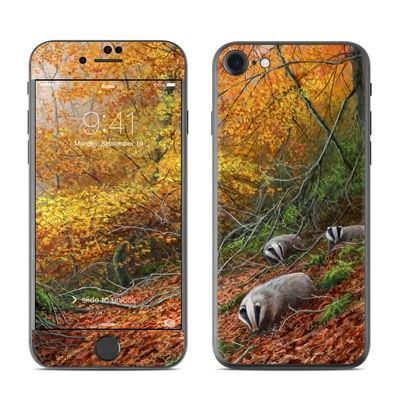 Apple iPhone 7 Skin - Forest Gold