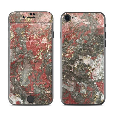 Apple iPhone 7 Skin - Gilded Magma Marble