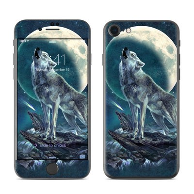 Apple iPhone 7 Skin - Howling Moon Soloist