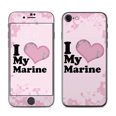 Apple iPhone 7 Skin - I Love My Marine