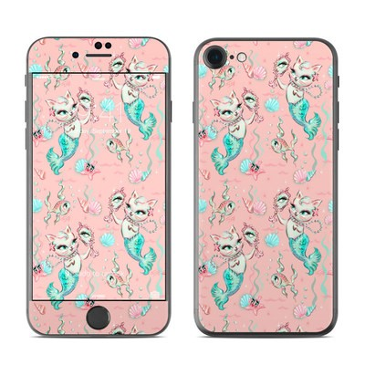 Apple iPhone 7 Skin - Merkittens with Pearls Blush