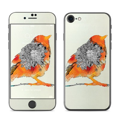 Apple iPhone 7 Skin - Orange Bird