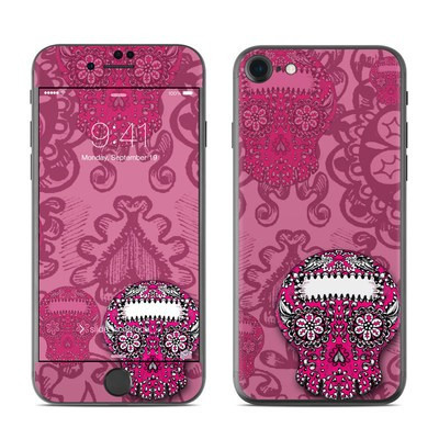 Apple iPhone 7 Skin - Pink Lace