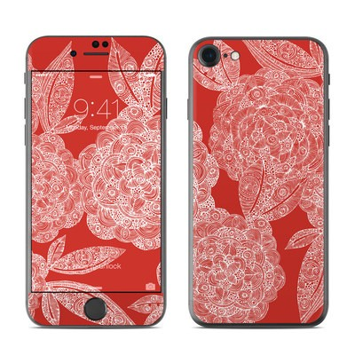 Apple iPhone 7 Skin - Red Dahlias