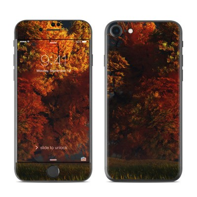 Apple iPhone 7 Skin - Red and Gold
