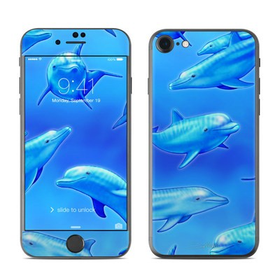 Apple iPhone 7 Skin - Swimming Dolphins