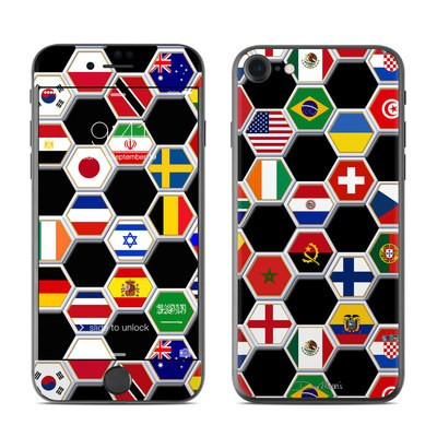 Apple iPhone 7 Skin - Soccer Flags