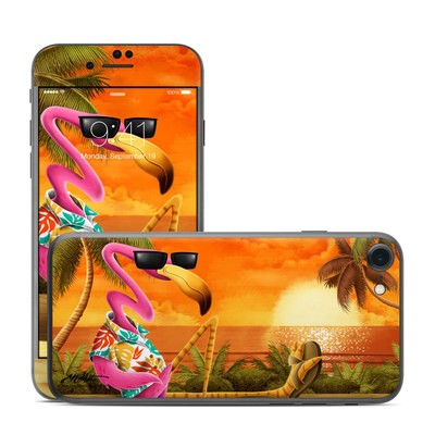 Apple iPhone 7 Skin - Sunset Flamingo