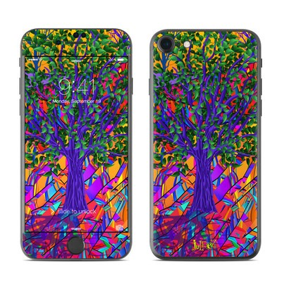 Apple iPhone 7 Skin - Stained Glass Tree