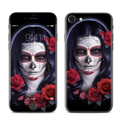 Apple iPhone 7 Skin - Sugar Skull Rose