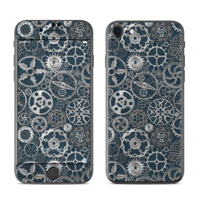 Apple iPhone 7 Skin - Silver Gears