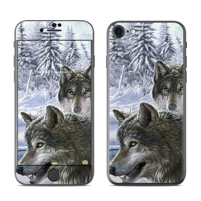 Apple iPhone 7 Skin - Snow Wolves
