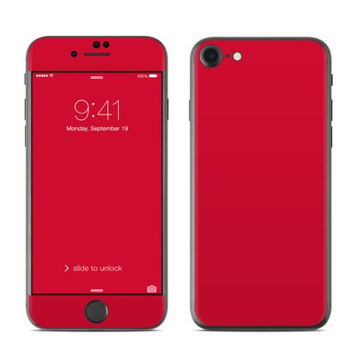 Apple iPhone 7 Skin - Solid State Red