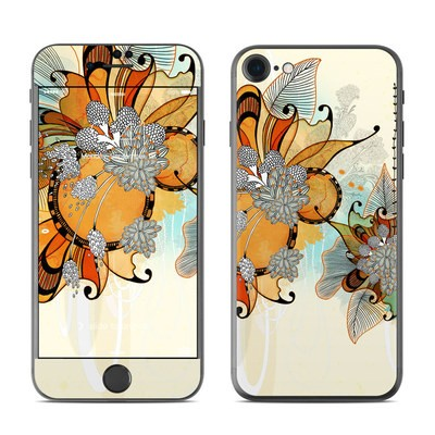 Apple iPhone 7 Skin - Sunset Flowers