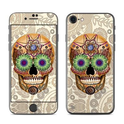 Apple iPhone 7 Skin - Sugar Skull Bone